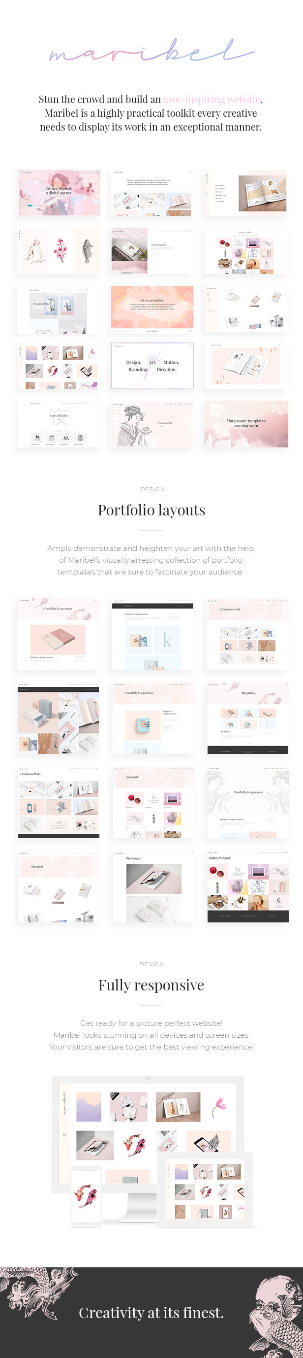 Maribel - Alluring Portfolio Theme for Creatives - 1